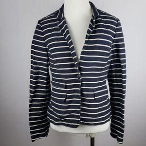 BANANA REPUBLIC Cotton Linen Blend Navy Blazer